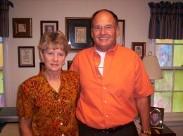 Pastor of Vine Grove Baptist Church and his wife